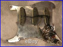 1964 Fender Pre-CBS Stratocaster, Strat, Mint Green Loaded Pickguard, Pickups, Pots
