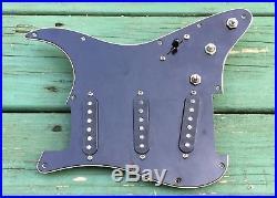 1980, 1981, 1982 Fender Stratocaster loaded pickguard withX1 Strat bridge pickup