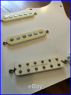 1987 80s USA Fender Strat Seymour Duncan Little 59 Bridge Loaded Pickguard TBX