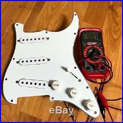 1995 Fender USA Strat Loaded PICKGUARD PIO American Pickups Guitar Prewired