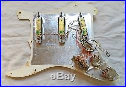 1996 Fender Strat Plus1990s loaded pickguard with Lace Sensor Gold pickups