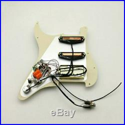 1 Set Guitar SSH Loaded Multi-tone Pickguard Plate Fit Fender Strat Stratocaster