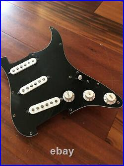 2001 Fender Strat USA Pickups Black Pickguard Tuxedo Assembly Stratocaster -Load
