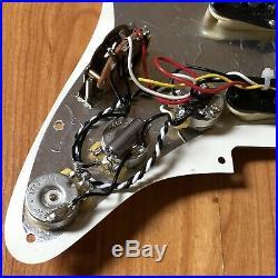2006 Fender American Strat PIO Loaded PICKGUARD USA Guitar Pickup Set Prewired
