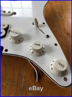 2006 Fender Stratocaster Pickguard Loaded HSS MIM White Fat Strat Original