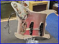 2011 Fender HSS Stratocaster LOADED PICKGUARD Humbucker Pickup USA Strat Guitar