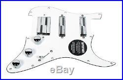 920D Custom Fender Stratocaster Strat Lace Alumitone HSS Loaded Pickguard WH/AL