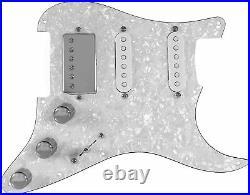 920D Custom Fiesta Pickups Loaded WHITE PEARL Pickguard for HSS Fender Strat