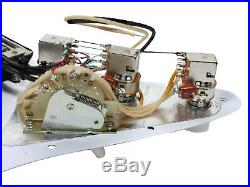 920D Custom Seymour Duncan P-Rails / SVR-1n Loaded HSH Strat Pickguard, BP/WH