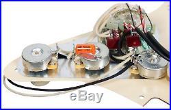 920D Custom Shop Duncan Rails Loaded Stratocaster Strat Pickguard 2 ToggleAWP/WH
