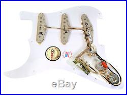 920D Custom Shop Fender Strat Loaded Pickguard Duncan Antiquity II Surf WH/AW