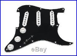 920D Custom Shop Texas Special Loaded Pickguard Fender Strat 7 Way BK/WH