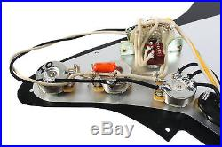920D Custom Shop Texas Special Loaded Pickguard Fender Strat 7 Way WH/BK