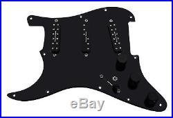 920D Fender Strat Left Handed Loaded Pickguard Duncan Everything Axe BK/BK