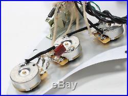 920D Fender Strat Loaded Pickguard Duncan Yngwie Malmsteen YJM Fury USA WH/WH