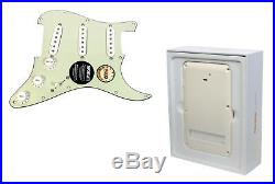 920D Fishman Fluence Loaded Strat Stratocaster Pickguard MG/PA with Battery Pack
