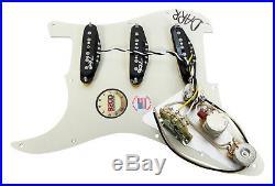 920D Fralin Vintage Hot Loaded Stratocaster Strat Pickguard, TBX/Blender BK/BK