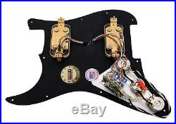 920D Lace Sensor Gold HH Splittable Dually Loaded Strat Pickguard MG/AW