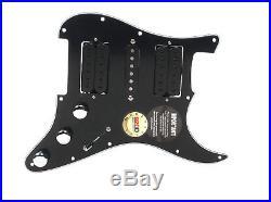920D Loaded HSH Strat Stratocaster Pickguard DiMarzio Evolution Vai BK/BK