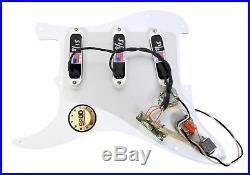 920D Loaded Strat Pickguard Lace Sensor Purple Silver Emerald WH/WH