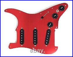 Carparelli Fully Loaded Aluminum Pickguard 9 Way Strat Wiring Mod Red Aluminum