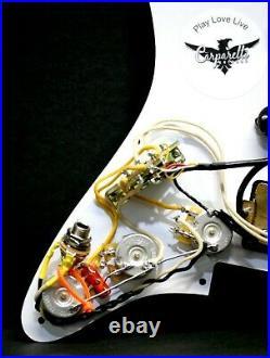 Carparelli HSS White Floyd Rose Strat 11 Hole Fully Loaded Pickguard White