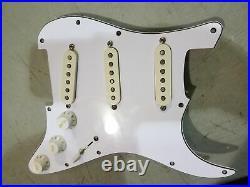 DIMARZIO Area Model Strat Stratocaster Prewired Loaded Pickguard White