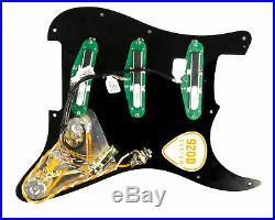 DiMarzio Billy Corgan Loaded Strat Pickguard Black / Black Left Hand