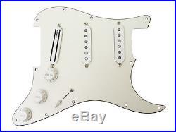 DiMarzio DP415 DP189 Loaded Strat Pickguard Parchment / White