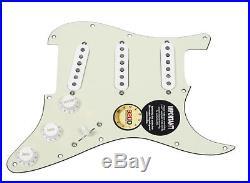 DiMarzio True Velvet Loaded Pickguard for Fender Strat MG/WH