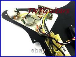 Dragonfire Prewired-Loaded Strat Pickguard HSS, 3 Ply Black with Black Pickups