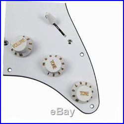 Electric Guitar Loaded Pickguard Pickups Replacement For Fender Strat White GW