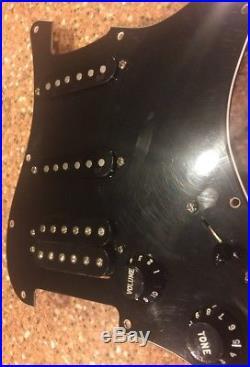 Fender American FSR HSS Strat LOADED PICKGUARD Stratocaster Black USA