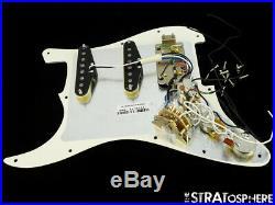 Fender American Professional HSS Shawbucker Strat LOADED PICKGUARD V-Mod Parch