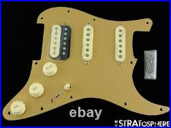 Fender American Ultra Stratocaster HSS LOADED PICKGUARD Strat S1 Anodized Gold