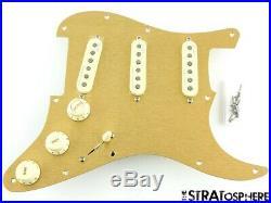 Fender American Ultra Stratocaster LOADED PICKGUARD Strat S1 Noiseless USA GOLD