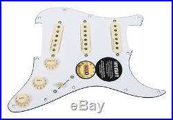 Fender Clapton Vintage Noiseless Loaded Strat Pickguard White / Aged White