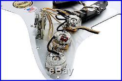 Fender Custom Fat 50's Loaded Strat Pickguard BK/WH