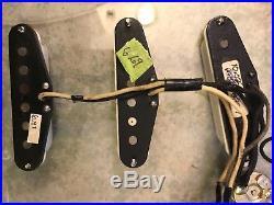 Fender Custom Shop 69 Strat Pickups withcap loaded in Eye Catching Clear Pickguard