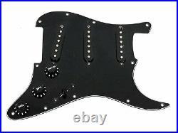 Fender Custom Shop Abby 69 Pickup Loaded Strat Pickguard 8 Hole All Black USA