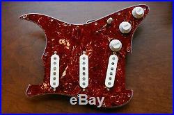 Fender Custom Shop Abby 69 Pickups Loaded Strat Pickguard White on Tortoise USA