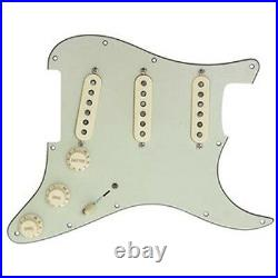 Fender Deluxe Drive Loaded Strat Pickguard Aged Cream on Mint Green OrAnyColor