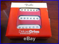 Fender Deluxe Drive Pickups Loaded Strat Pickguard White on Black Or Any Color
