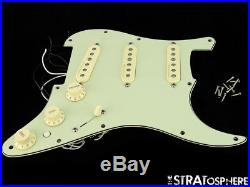 Fender Deluxe Strat LOADED PICKGUARD Stratocaster Noiseless Pickups Mint Green