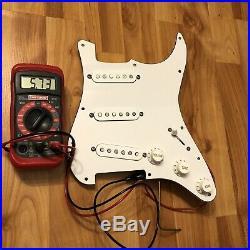 Fender ERIC JOHNSON Pickups PIO Loaded Strat Pickguard Stratocaster Prewired USA