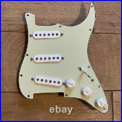 Fender Eric Johnson Strat Pickup Set PIO Prewired Loaded Harness Pickguard