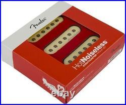 Fender Hot Noiseless Jeff Beck Loaded Strat Pickguard Aged White / Gold Anodized
