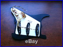 Fender Hot Noiseless Loaded Strat Pickguard Aged Cream 7 Way Made in USA