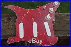 Fender Lace Sensor Gold Strat Stratocaster Pickup Loaded Tortoiseshell Pickguard