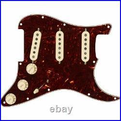 Fender Loaded Pre-Wired Strat Pickguard Tex-Mex SSS Tortoise Shell 11 Hole